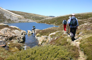Mt Kosciuszko Walking at Blue Lake